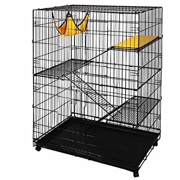 large pet crate cat cage kennel hammock bed amazon     large pet crate cat cage kennel hammock bed   pet      rh   amazon
