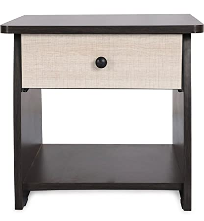 Valtos Apex Engineered Wood Bedside Table (Matte Finish, Wenge)