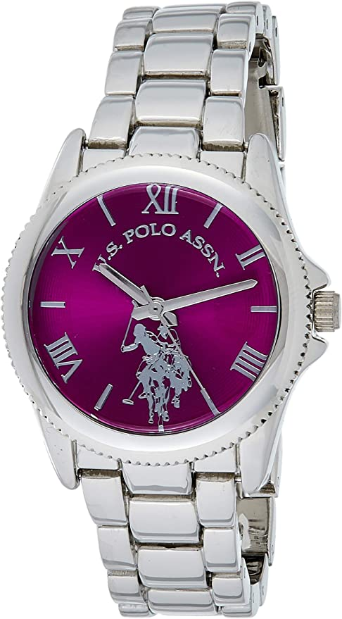 U.S. Polo Assn. Women's Analog-Quartz Watch with Alloy Strap, Silver, 14.5 (Model: USC40134)