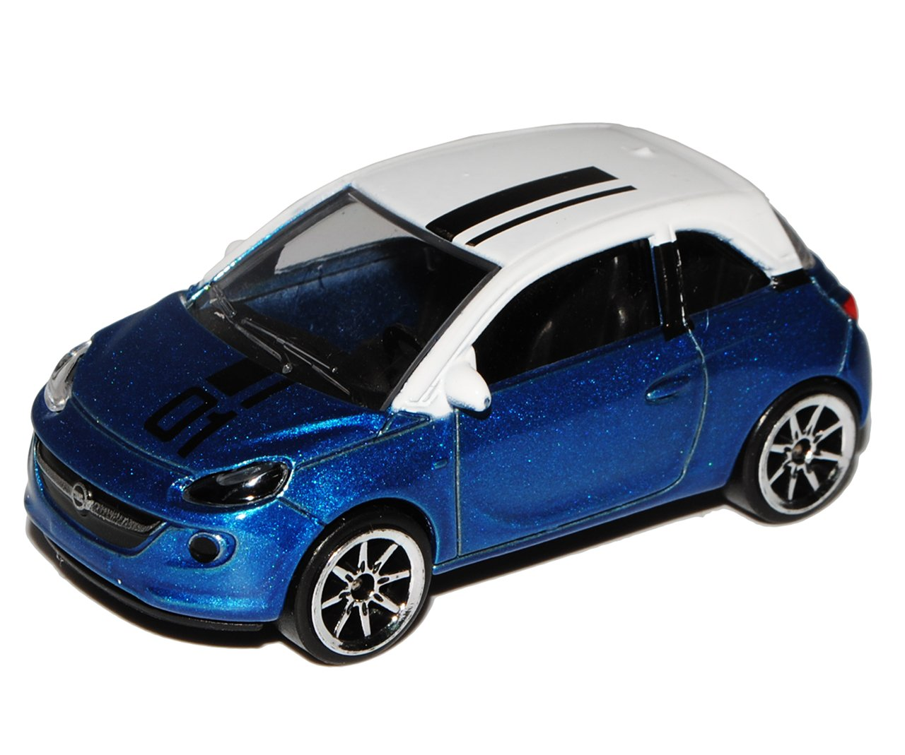 Opel Adam 3 Türer Blau mit Weißem Dach 1//64 Norev Modell Auto mit oder ohne in..