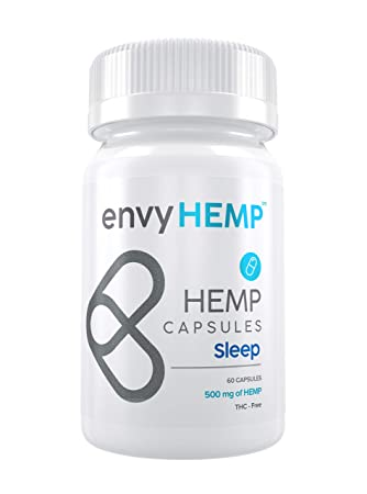Envy Hemp Sleep Capsules - 500 mg Hemp Oil Sleep Aid with Melatonin - Sleep Deeply