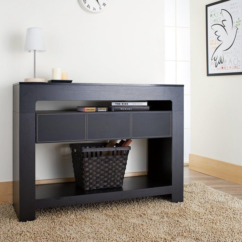 Arroya Modern Black Finish Console Table