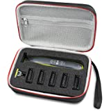 Hard Travel Case Bag for Philips Norelco OneBlade hybrid electric trimmer shaver QP2520/70 QP2520/30 by AONKE