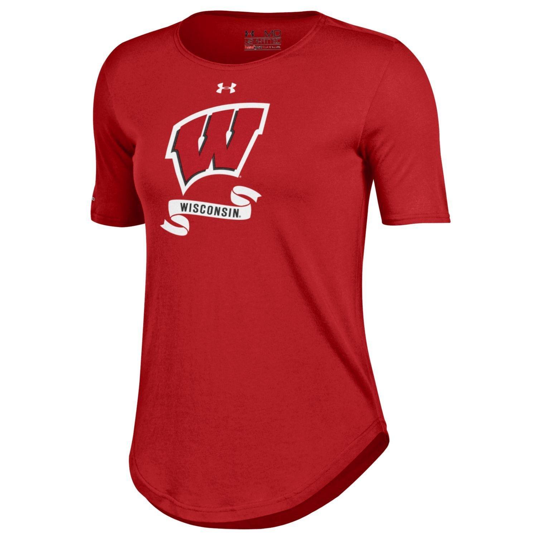 2019人気特価 NCAAレディースunder Wisconsin armour半袖クルーネックTee B01DWMLZ1A Large Badgers Wisconsin Badgers B01DWMLZ1A, マツエシ:bb494616 --- a0267596.xsph.ru