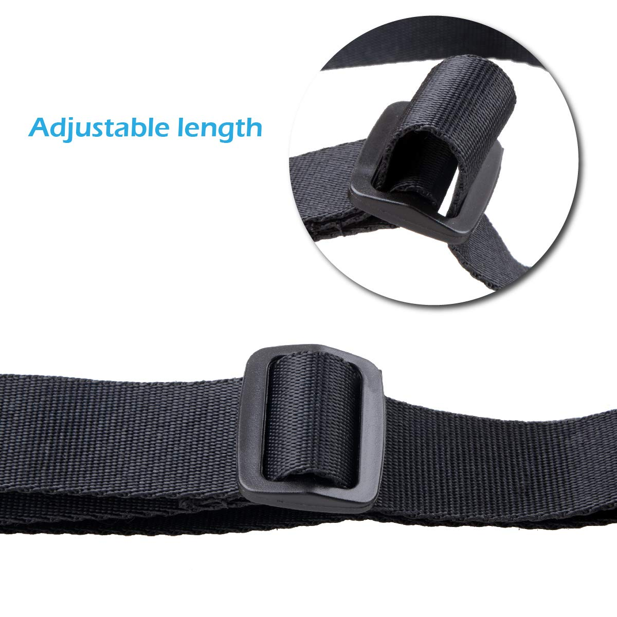 Black - 25mm, 3.28ft TRIWONDER Luggage Straps for Suitcase Travel Belts Accessories Buckle Packing Straps Adjustable Heavy Duty Bag Straps 4 Pack