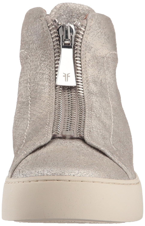 FRYE Women's Lena Zip High Fashion Sneaker B071JSL1TW 10 B(M) US Silver