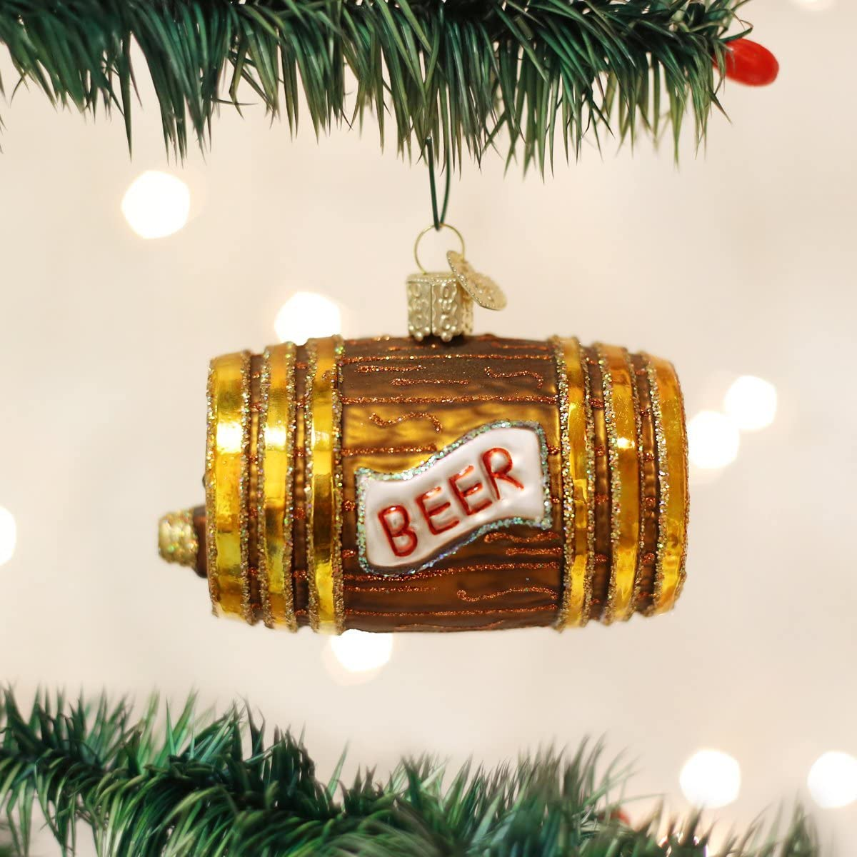 Amazon Com Old World Christmas Craft Beer Collection Glass Blown Ornaments For Christmas Tree Keg Home Kitchen