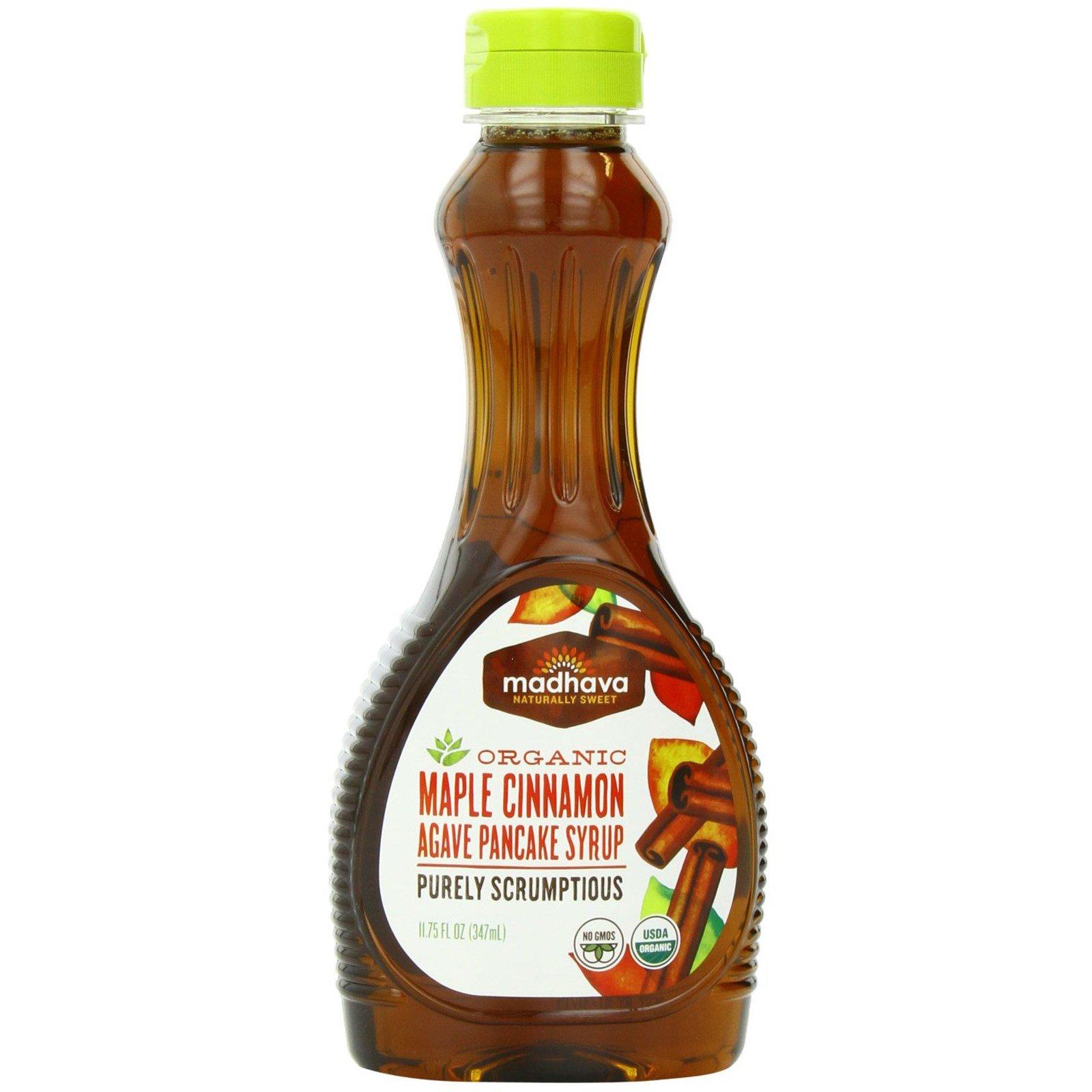 Madhava Natural Sweeteners, Organic Maple Cinnamon Agave Pancake Syrup, 11.75 fl oz (347 ml) Madhava Natural Sweeteners, Organic Maple Cinnamon Agave Pancake Syrup, 11.75 fl oz (347 ml) - 2pcs