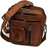 Reyansh Handicrafts Men's Genuine Leather Shoulder Bag Small Cross Body Unisex Bag