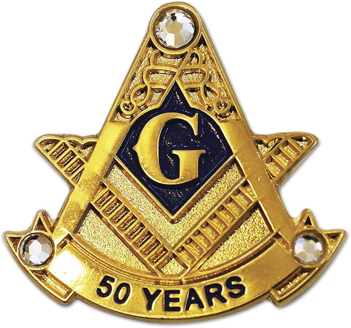 MASONIC Classic Square /& Compass with GEM STONE Lapel Pin Freemason hat NEW