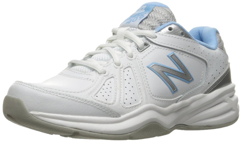 New Balance Women's WX409V3 Casual Comfort Training Shoe B01CQVTYOS 9.5 D US|White/Blue