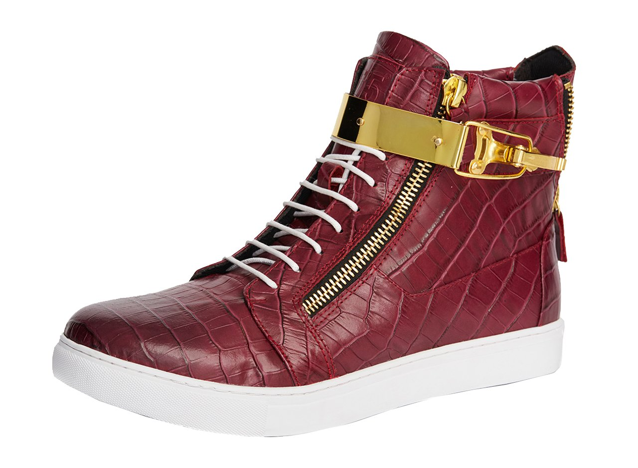 Jump J75 by Men's Zeus High-Top Fashion Sneaker Burgundy 12 D US