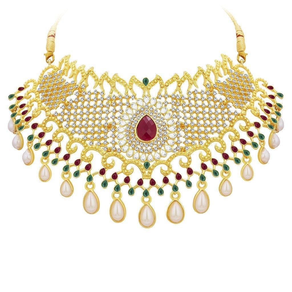 Jewelry & Watches Indian Traditional Fashion Jewelry Set Gold Tone Choker Bridal & Wedding Party Bridal & Wedding Party Jewelry