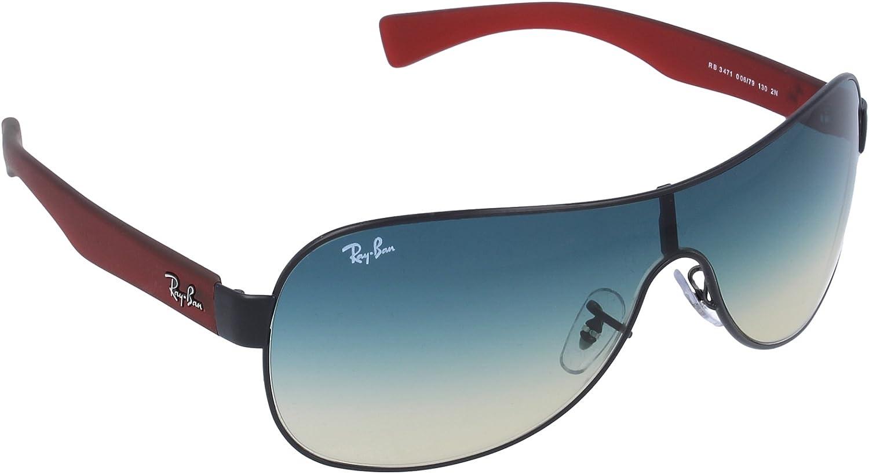 Ray-Ban Gafas de Sol MOD. 3471 SOLE006/79 Negro/Rojo: Amazon.es: Zapatos y complementos