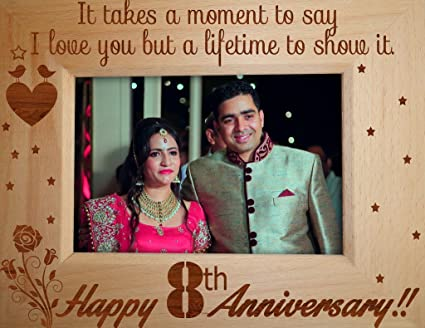 13fe5731ebe Buy TiedRibbons 8th Wedding Anniversary Gifts Wife Photo Frame (6.8 Inch X  8.7 Inch) Online at Low Prices in India - Amazon.in