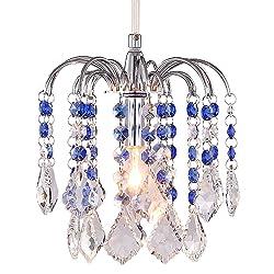 LivEditor Modern Chandelier Crystal Ligthing Pendant Lighting For HallWay Kitchen Kids Room (Y4060-WLM)