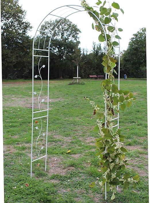 HAFIX XXL Rose Arco Blanco rankier Ayuda Rose Estructura Rank Estructura Jardín – Arco: Amazon.es: Jardín