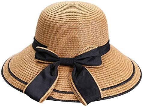 YUYILIN Sombrero Paja Las Mujeres del Verano Sun Bow Sombreros De ...