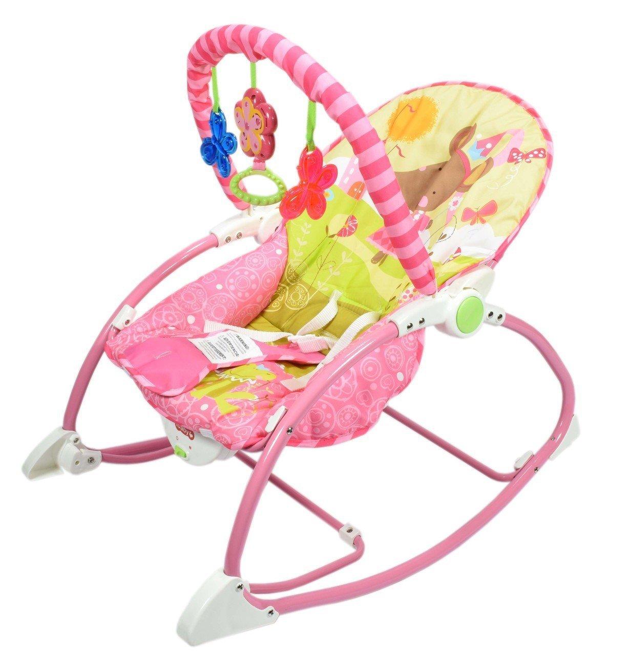Zest 4 Toyz Non Toxic Fabric Musical Newborn to Toddler Rocker Play Set (Multicolour)