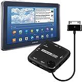 kwmobile 7in1 adattatore della carta Reader USB OTG 30 Pin per Samsung Galaxy Note 10.1