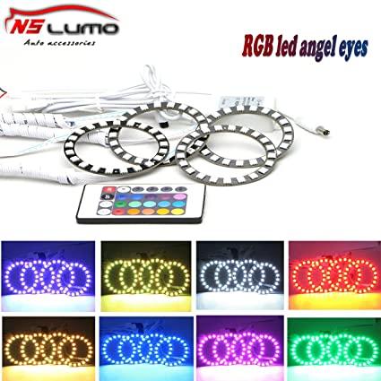 Amazon.com: Newsun RGB Multi-color 5050 SMD Flash LED Angel Eyes ...