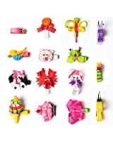 Imanom Hair Bows for Girls Lovely Pet Shape Hair Clips For Teens Baby Girls Babies Toddlers Set of 15