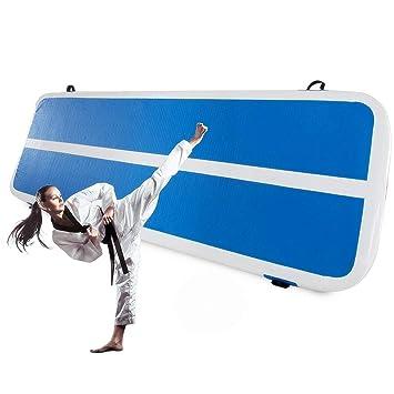 Air Track-System Zweiwandmaterial mit elektrischer Luftpumpe Bodenschutzmatte f/ür Zuhause Impiclio Gymnastikmatte aufblasbar Training 20/cm dick Tumbling