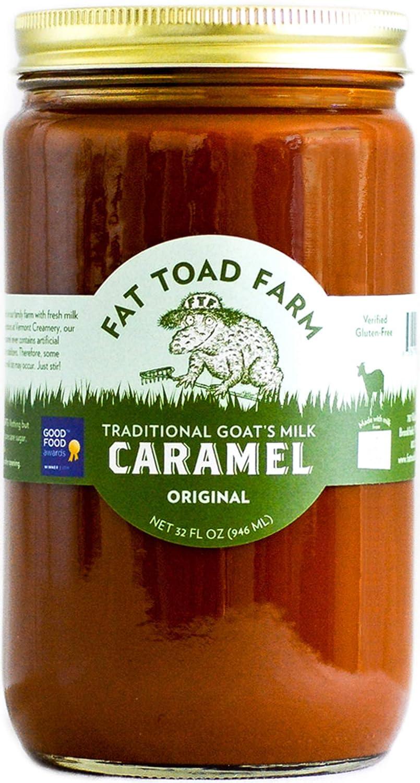Fat Toad Farm Traditional Goats Milk Caramel Sauce, Original, 32fl oz Jar, Cajeta, Gluten Free
