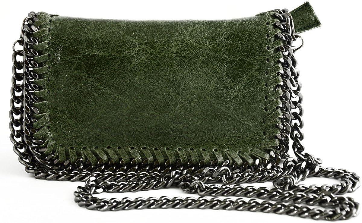 Woman Shoulder Genuine Leather Bag Color Green
