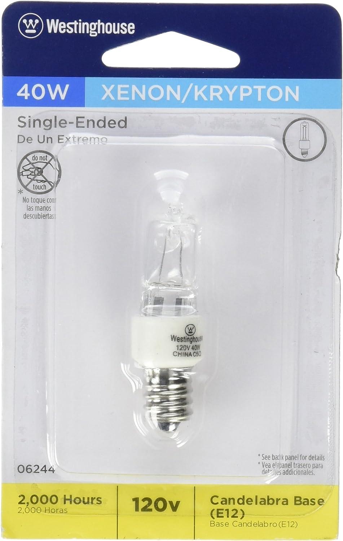 Westinghouse Lighting 0624400, 40 Watt, 120 Volt Clear Incan T3 Light Bulb, 2000 Hour 560 Lumen