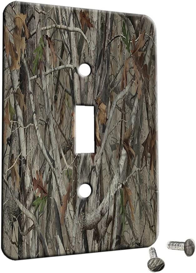 CAMO METAL DOUBLE SWITCH PLATE