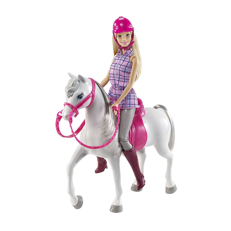Barbie DHB68 Puppe und Pferd Puppen Spielset mit abnehmbaren Zubeh/ör M/ädchen Spielzeug ab 3 Jahren /&  DYL42 Chelsea und Pferd Mehrfarbig