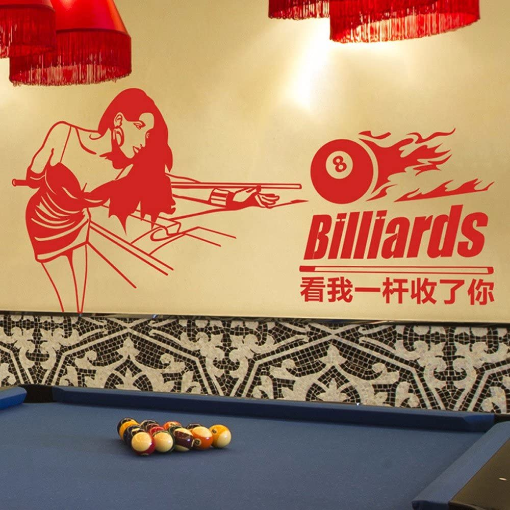 Pegatinas de pared Sala de Billar Club de Ocio sala de billar snooker pegatinas de pared Tienda decoraciones de fondo Billar chica,110×50 cm.: Amazon.es: Hogar