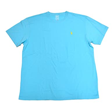 Polo Ralph Lauren cuello redondo camiseta (Aqua azul - amarillo ...