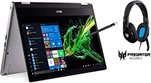 Acer Spin 3 Convertible Laptop 14in Full HD IPS Touch Intel Quad Core i7-8565U 16GB 512GB SSD Backlit KB with Active Stylus and Acer Predator Galea 310 Gaming Headset Bundle (Renewed)