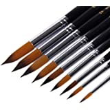Grocery House Paintbrushes (9 Pack), Long Handle Round Brush Set 0-16#, Art Paint Brushes for Acrylic, Oil, Watercolors