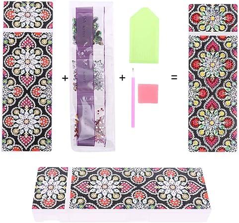 HavanaYZ 5D DIY - Estuche para lápices con diseño de mandala con diamantes de imitación 37: Amazon.es: Hogar