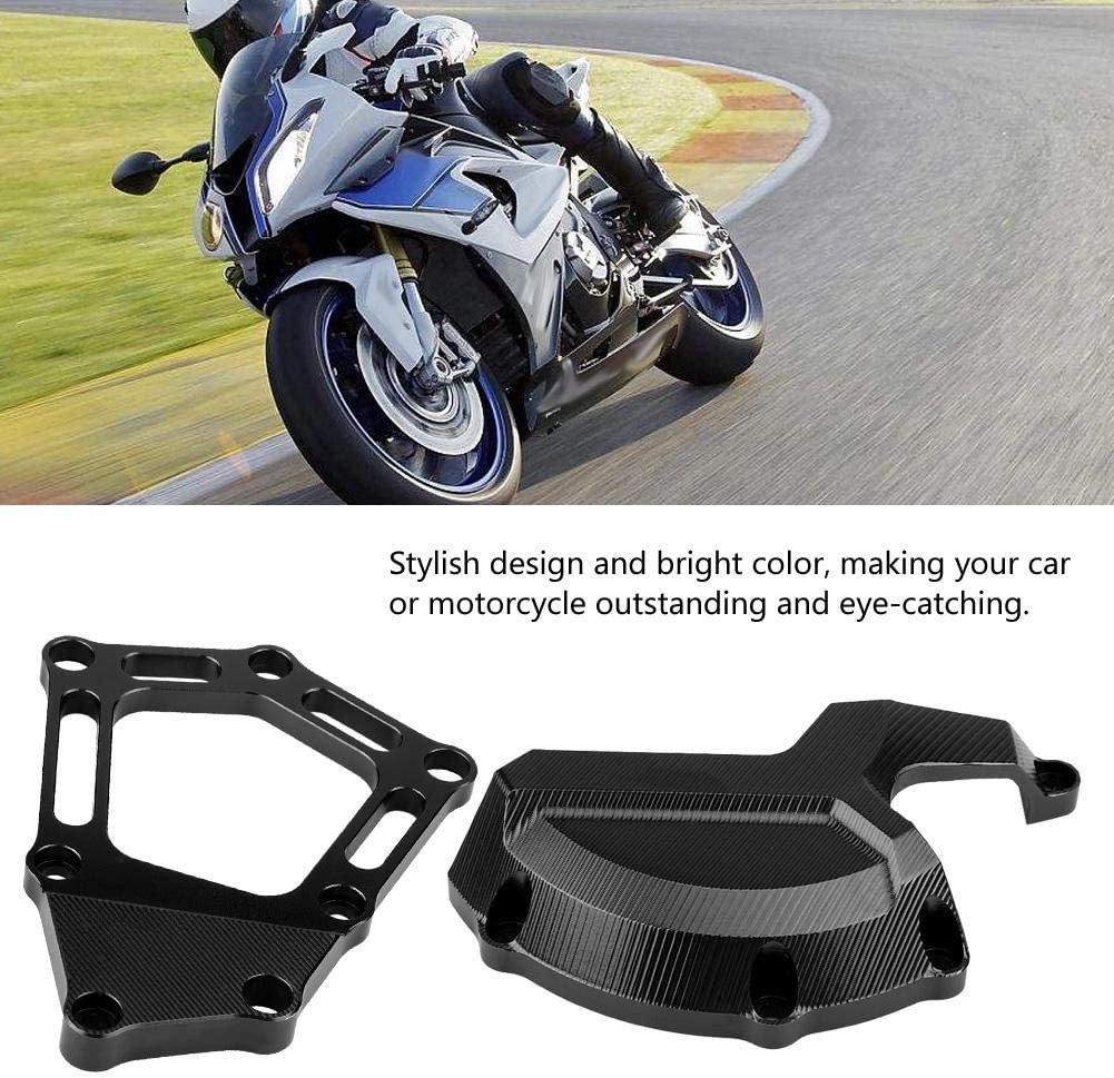 Qii lu S1000RR S1000R S1000XR Motorcycle Engine Protector,Left /& Right Engine Stator Cover Engine Protective Cover For BMW S1000RR ABS K46 2009-2016 Black