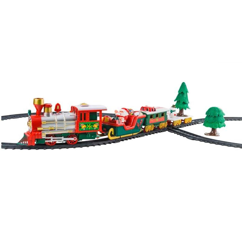 KI 22 Piece Christmas Novelty Train Set With Lights And Sound