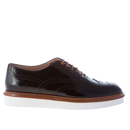 ed9d3f70ff Tod's Women Shoes Black Leather lace Oxford Wingtip Brogue Style ...