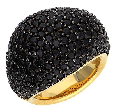 ESPRIT Glamour Damen-Ring ES-NYXIA-BLACK GOLD teilvergoldet Spinell schwarz  Gr.