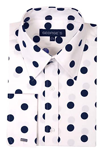 525c0ffdd3a6 Amazon.com  George s Men s 100% Cotton Big Polka Dot Pattern Shirt ...