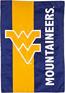 Team Sports America West Virginia Embellished Garden Flag - 13 x 18 Inches