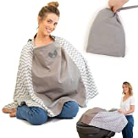 Premium - Eye Contact - Nursing Cover Poncho Style - Rigid Neckline Breastfeeding...