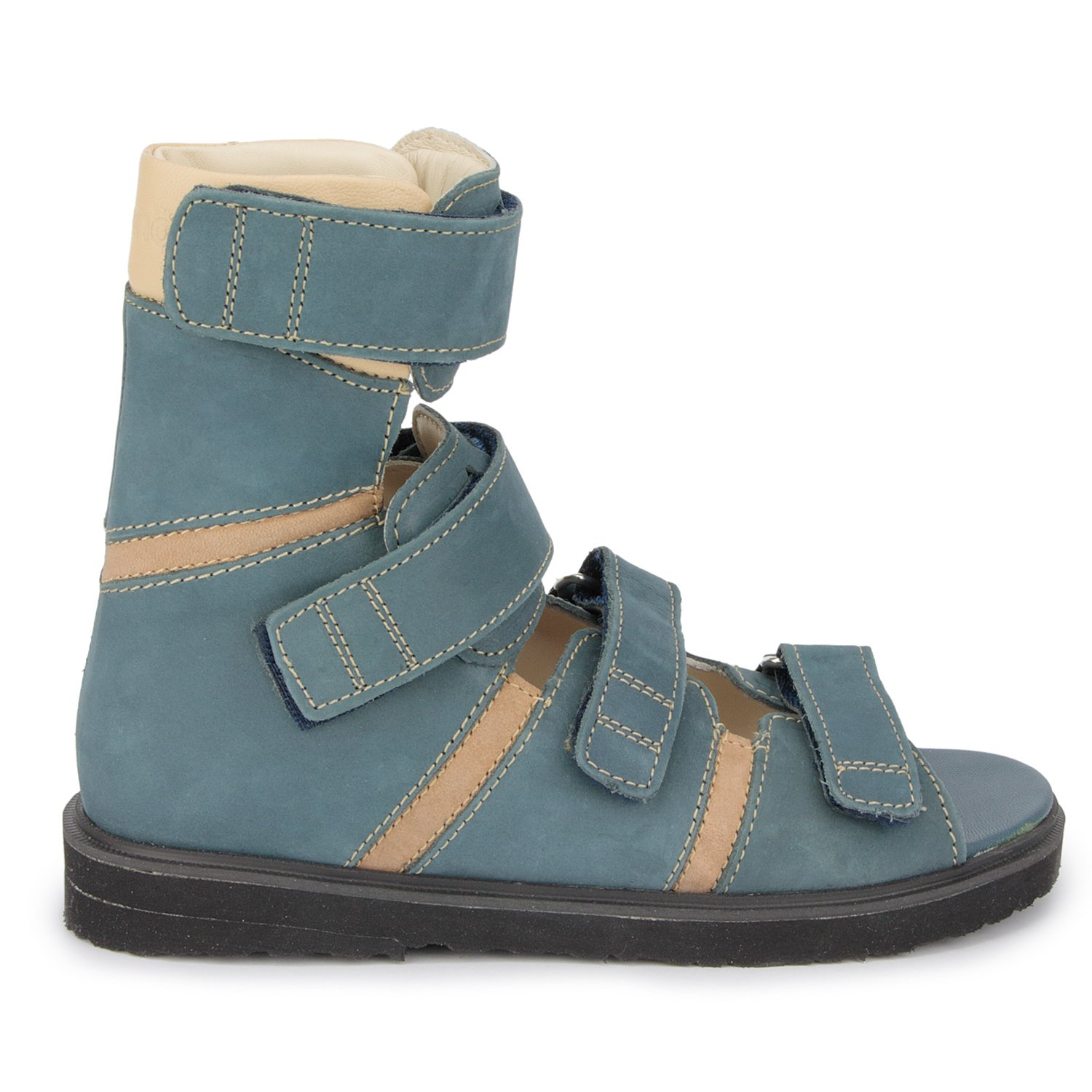 Memo Basic 1CH Suede CP Kids AFO Brace Sandal, 12.5 Little Kid M (30) by Memo (Image #5)