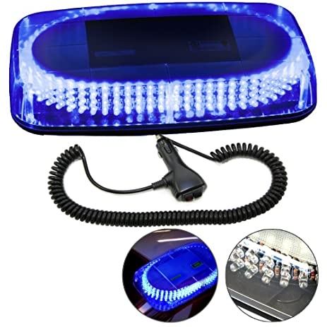 Amazon hqrp 240 led mini light bar blue light hazard warning hqrp 240 led mini light bar blue light hazard warning emergency strobe light with magnetic aloadofball Images