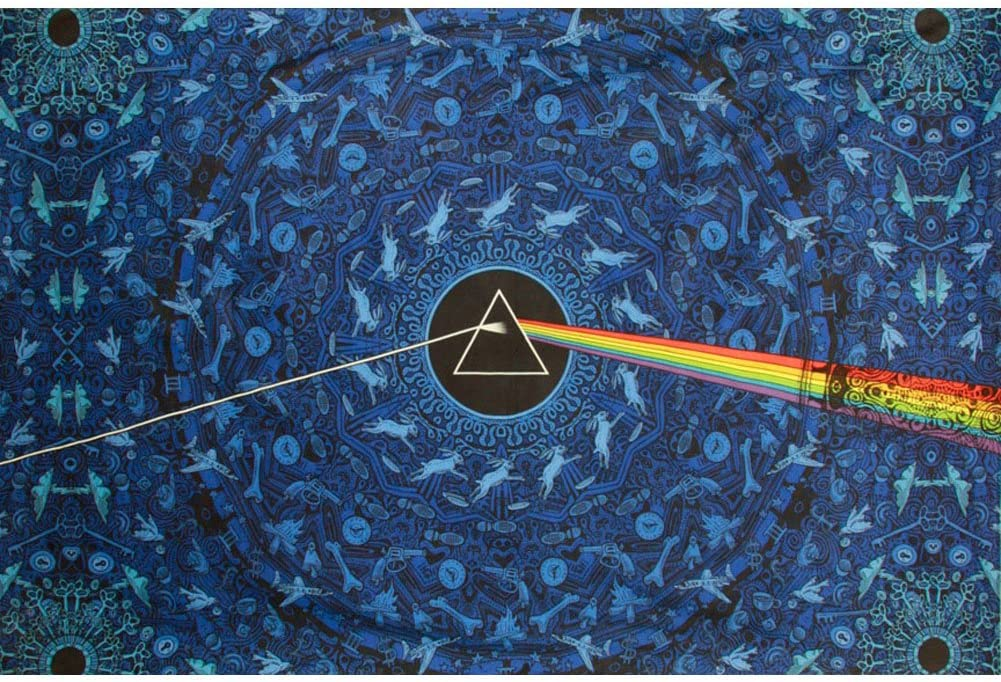 Sunshine Joy 3D Pink Floyd The Dark Side Of The Moon Tapestry Lyrics Blue 60x90 Inches