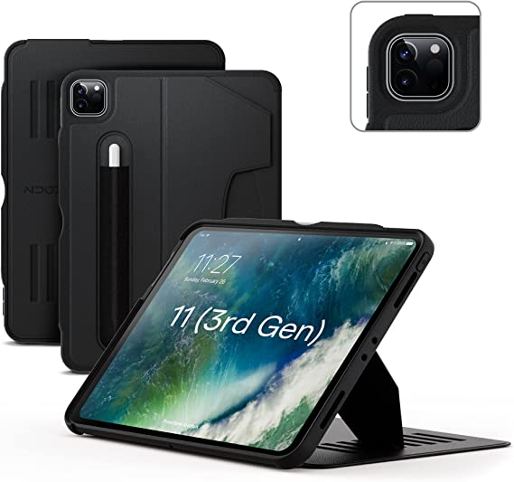 ZUGU Case for 2021 iPad Pro 11 inch Gen 2/3 - Ultra Slim Protective Case - Wireless Apple Pencil Charging - Convenient Magnetic Stand & Sleep/ Wake Cover (Fits Model #'s A2301, A2377, A2459, A2460)