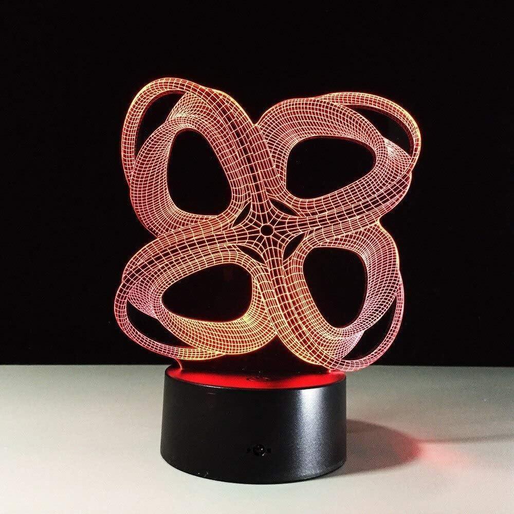 Regalos para tu novio regalos de Navidad luz nocturna abstracta gráficos 3D creativos ilusión lámpara LED luz nocturna acrílico colorido degradado lámpara nueva iluminación con mando a distancia