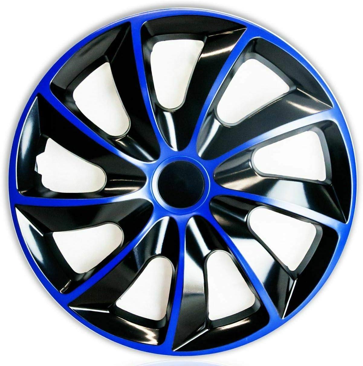 Teile 24 Eu Malinowski 4 X Radkappen 15 Radzierblenden Radblenden Satz 15 Zoll Blau Schwarz Premium Line Neu Art Nr Q15b Auto
